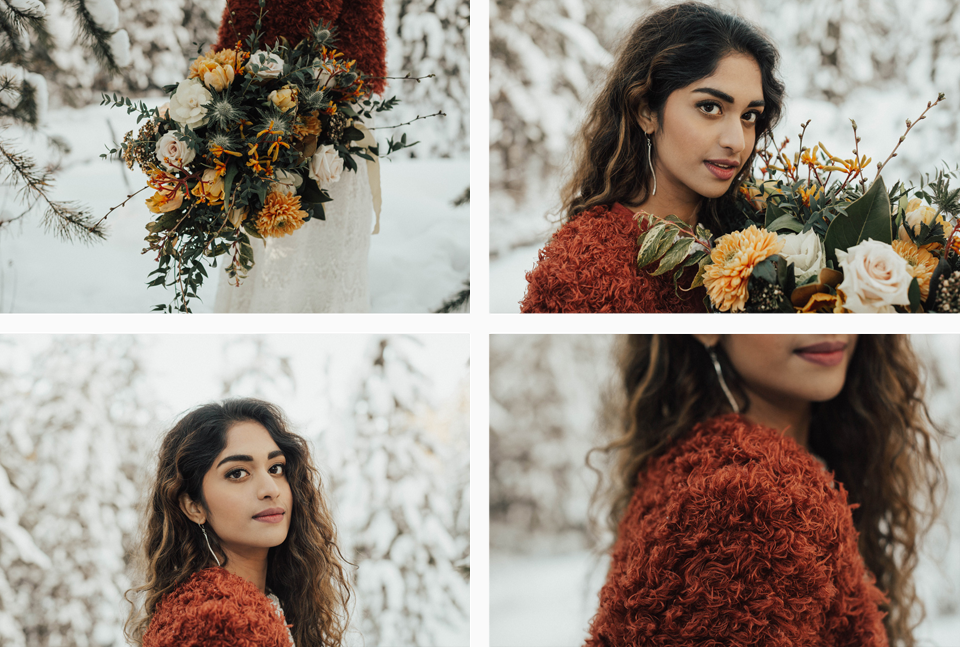 Winter Mountain Bohemain Bridal Inspiration - Michelle Larmand Photography - Banff Wedding Photography -032
