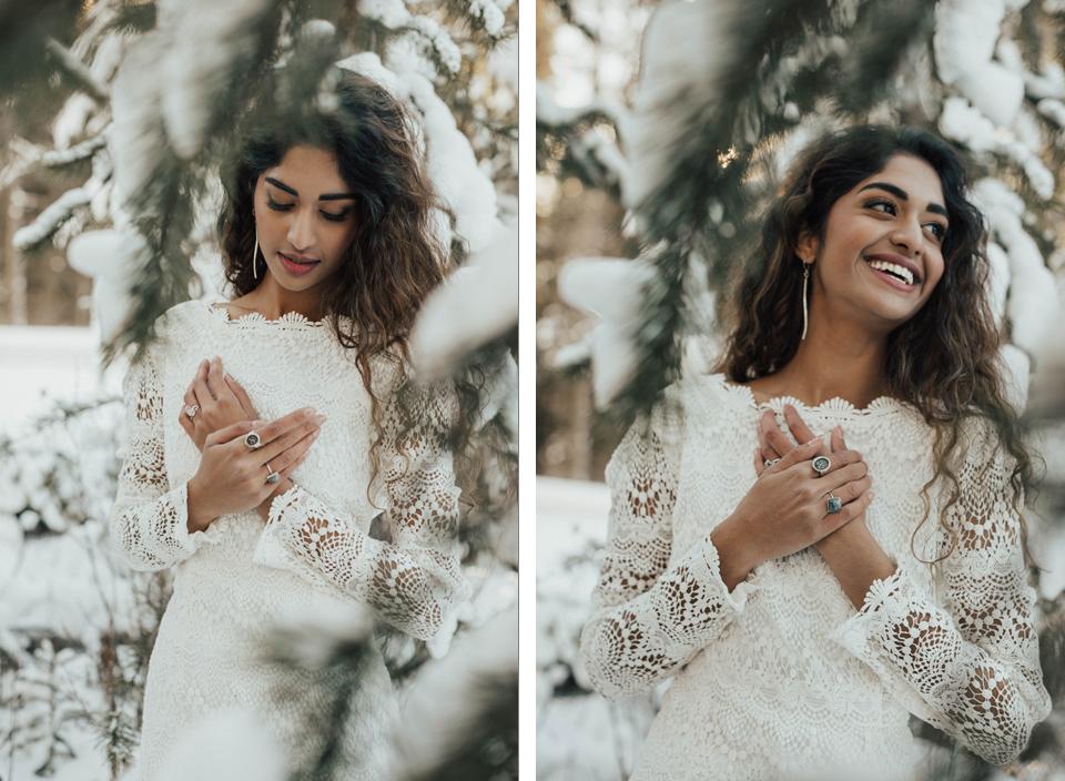 Winter Mountain Bohemain Bridal Inspiration - Michelle Larmand Photography - Banff Wedding Photography -036