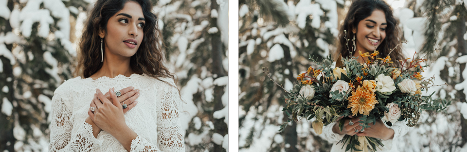 Winter Mountain Bohemain Bridal Inspiration - Michelle Larmand Photography - Banff Wedding Photography -037