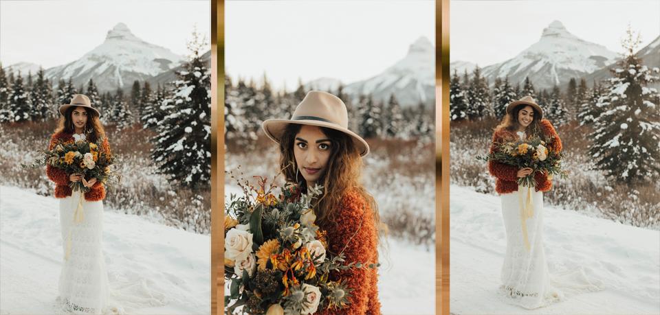 Winter Mountain Bohemain Bridal Inspiration - Michelle Larmand Photography - Banff Wedding Photography -051