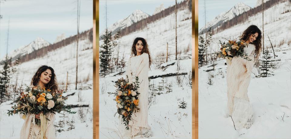 Winter Mountain Bohemain Bridal Inspiration - Michelle Larmand Photography - Banff Wedding Photography -056