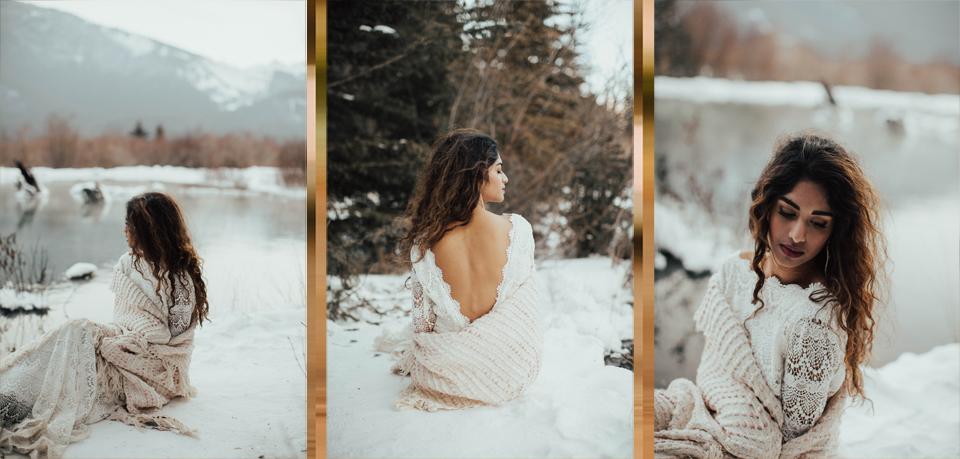 Winter Mountain Bohemain Bridal Inspiration - Michelle Larmand Photography - Banff Wedding Photography -065