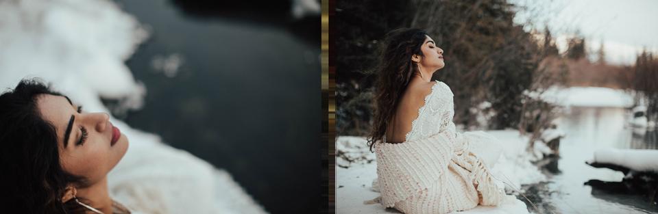 Winter Mountain Bohemain Bridal Inspiration - Michelle Larmand Photography - Banff Wedding Photography -070