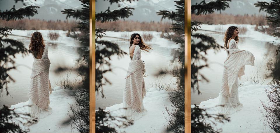 Winter Mountain Bohemain Bridal Inspiration - Michelle Larmand Photography - Banff Wedding Photography -073