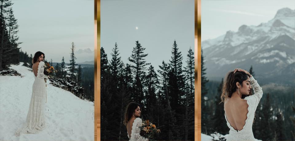 Winter Mountain Bohemain Bridal Inspiration - Michelle Larmand Photography - Banff Wedding Photography -082