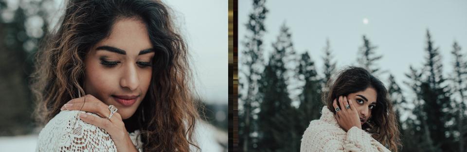 Winter Mountain Bohemain Bridal Inspiration - Michelle Larmand Photography - Banff Wedding Photography -088