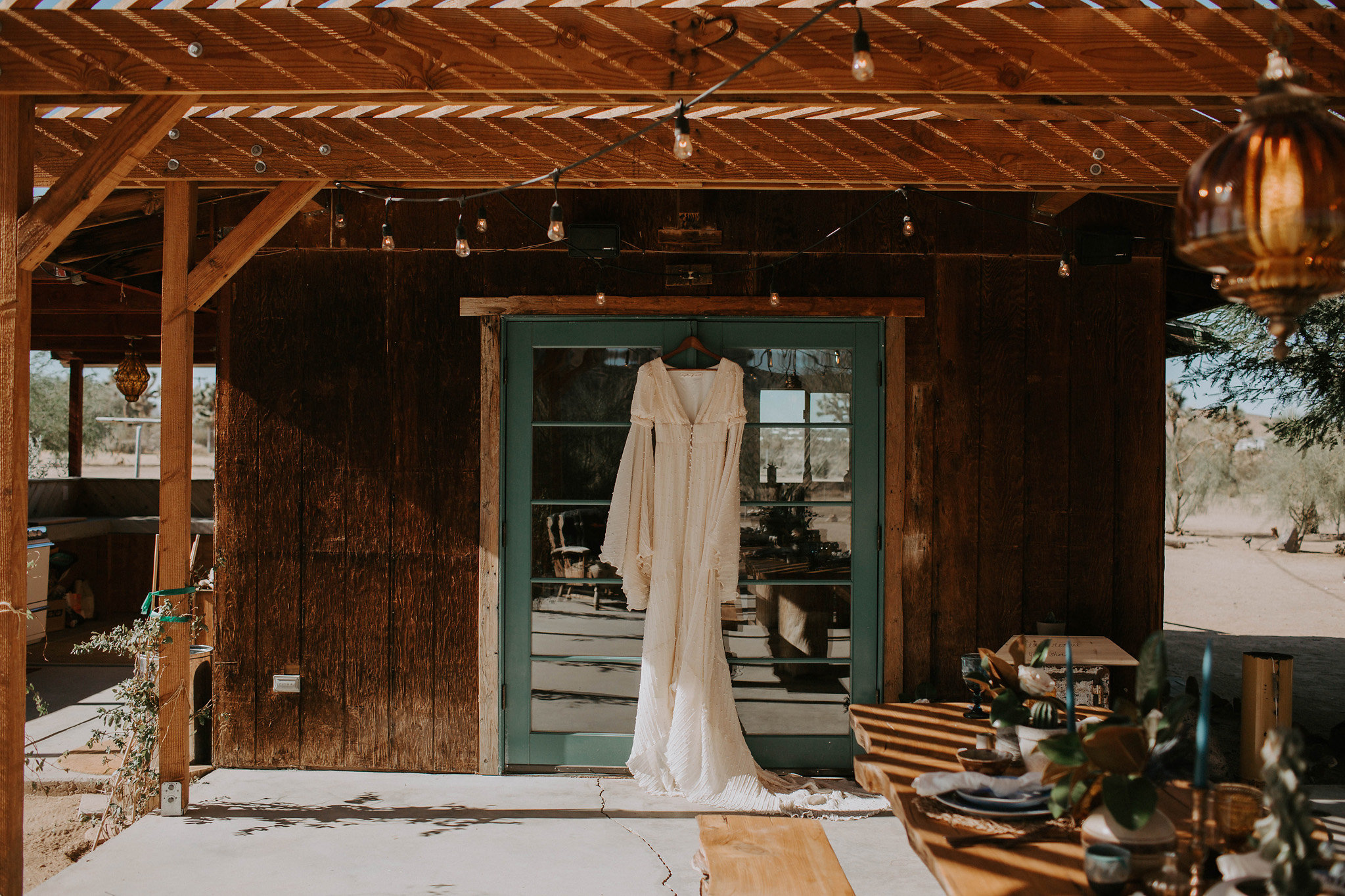 wedding dress inspiration Joshua Tree Airbnb Elopement