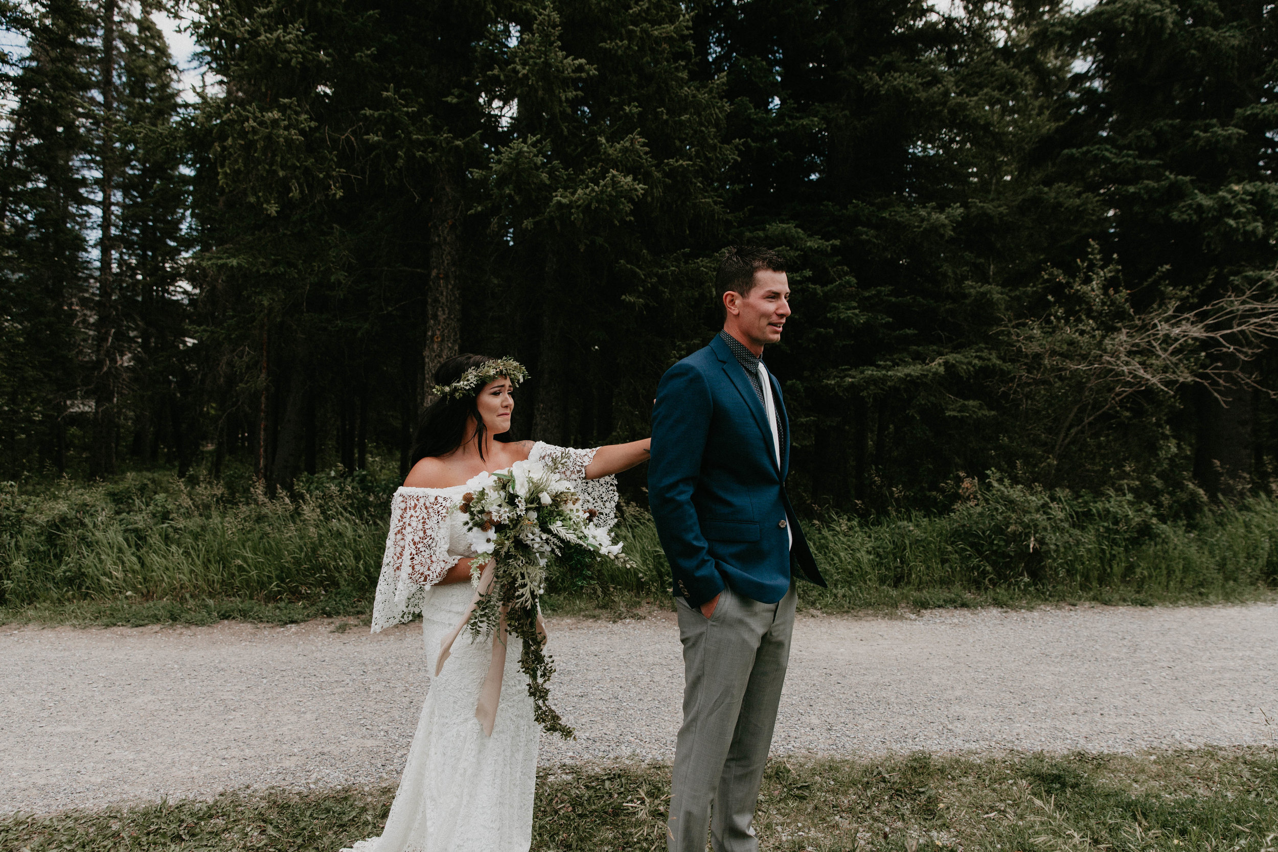 first look - Canmore, Alberta wedding   Michelle Larmand Photography