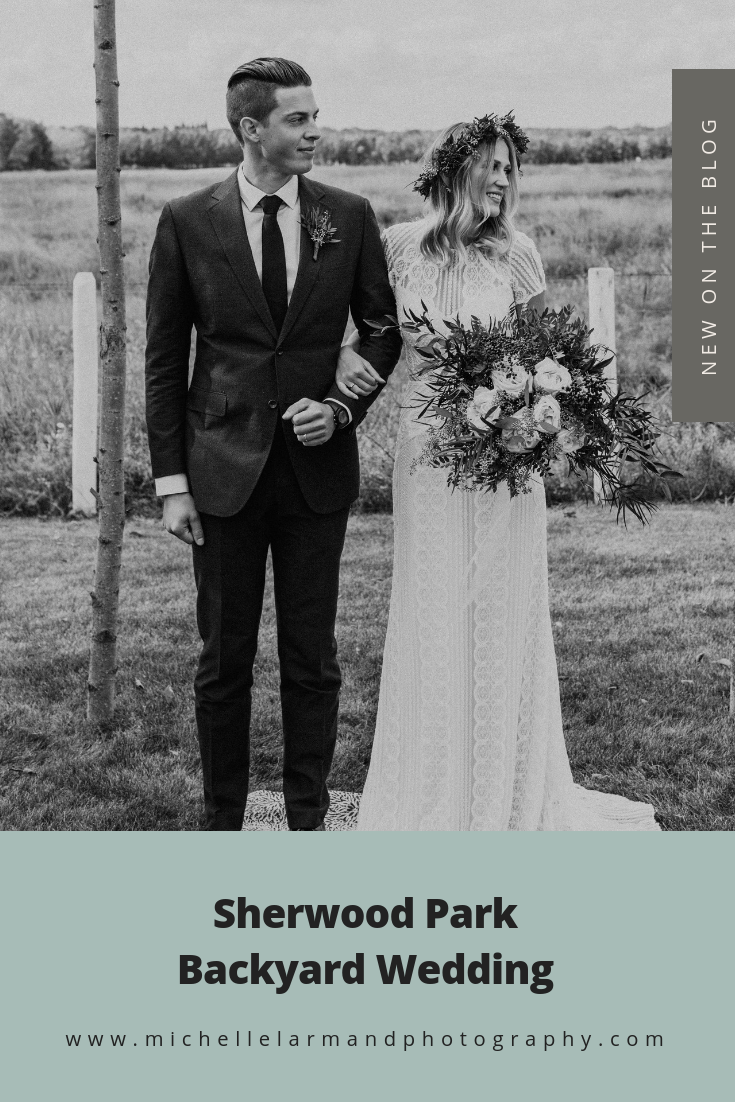 Sherwood Park Backyard Wedding