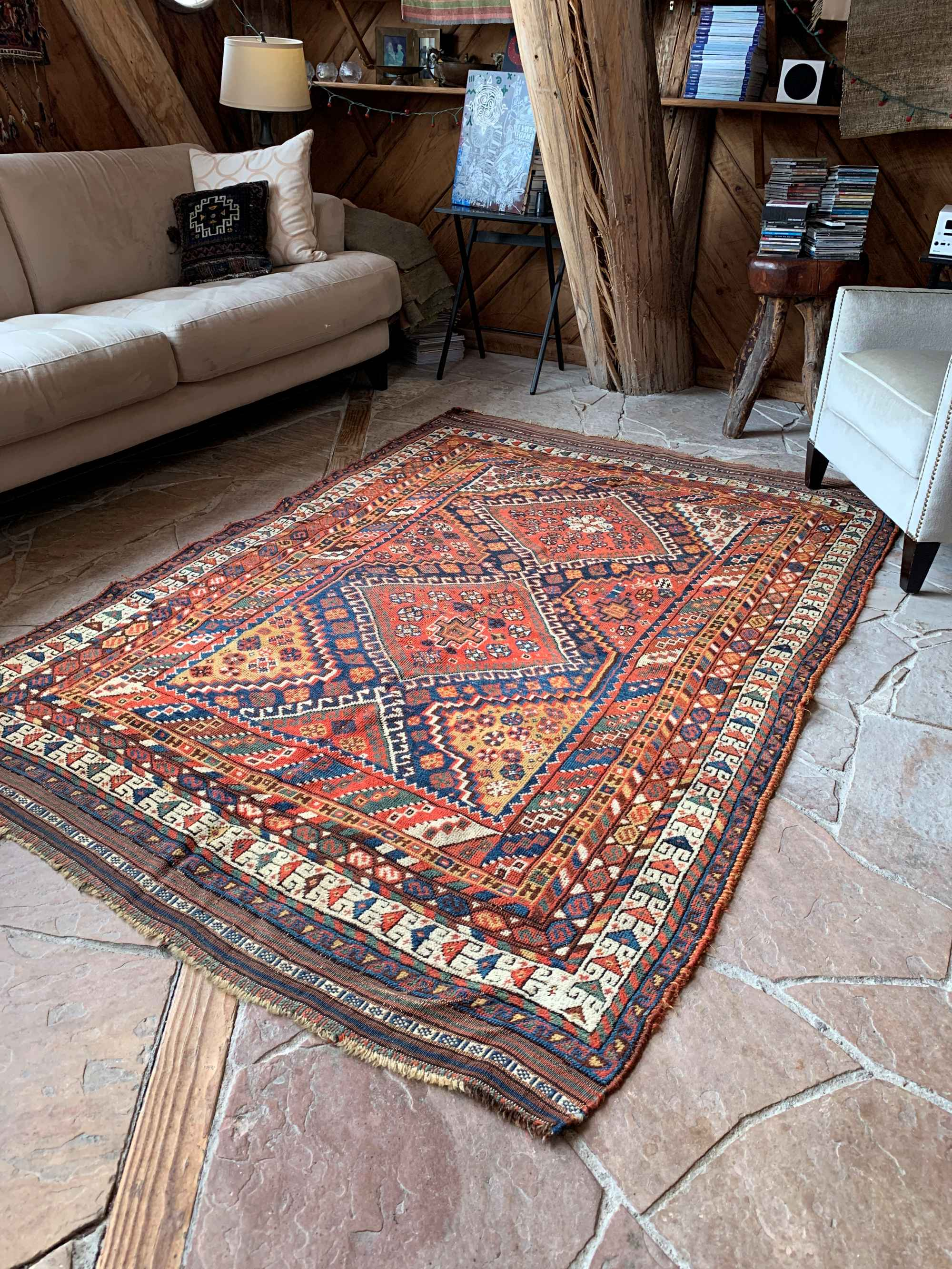 Antique Persian Lori Qashqai Tribal Rug