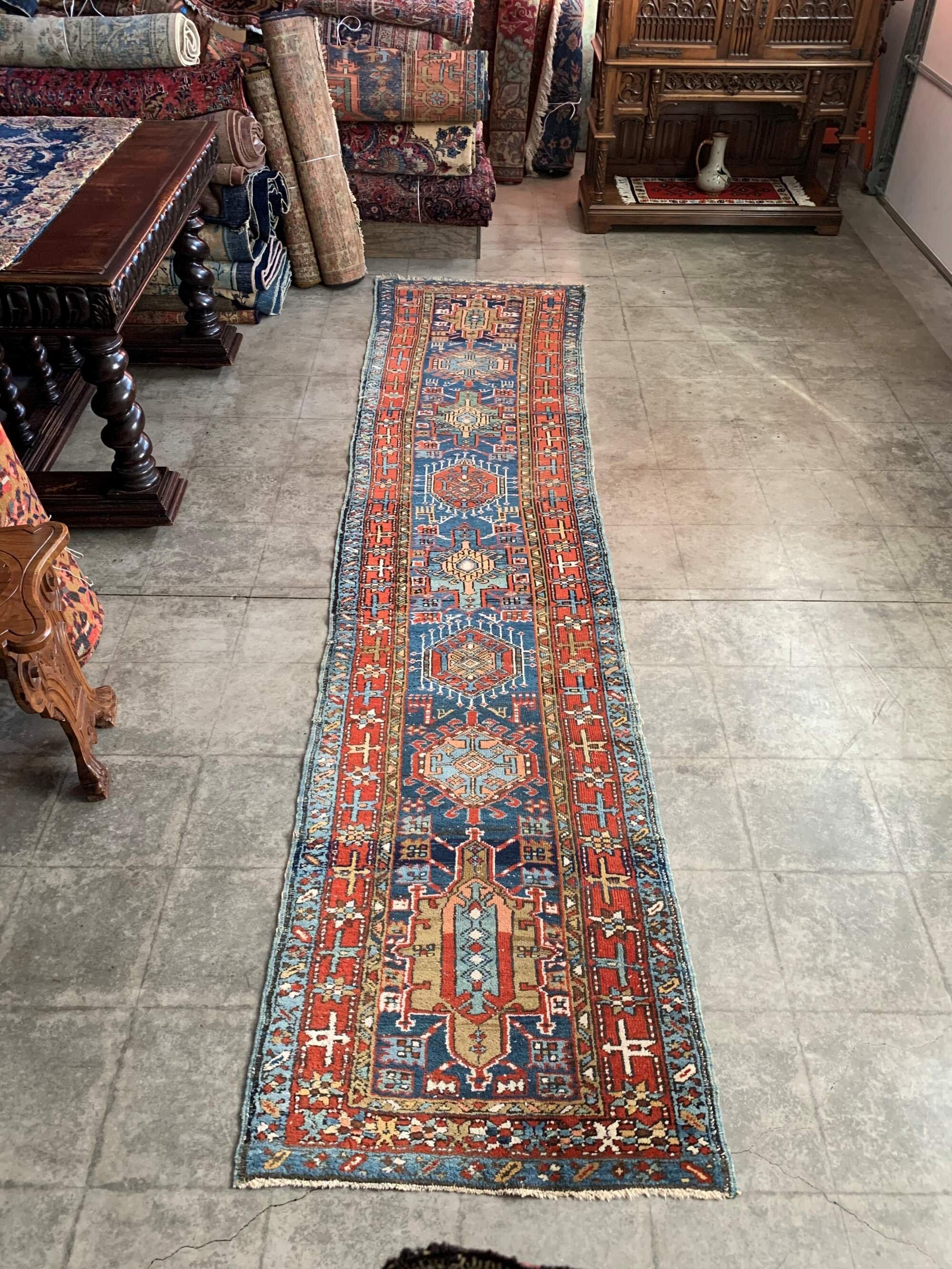 Antique Persian Karaja Runner Rug