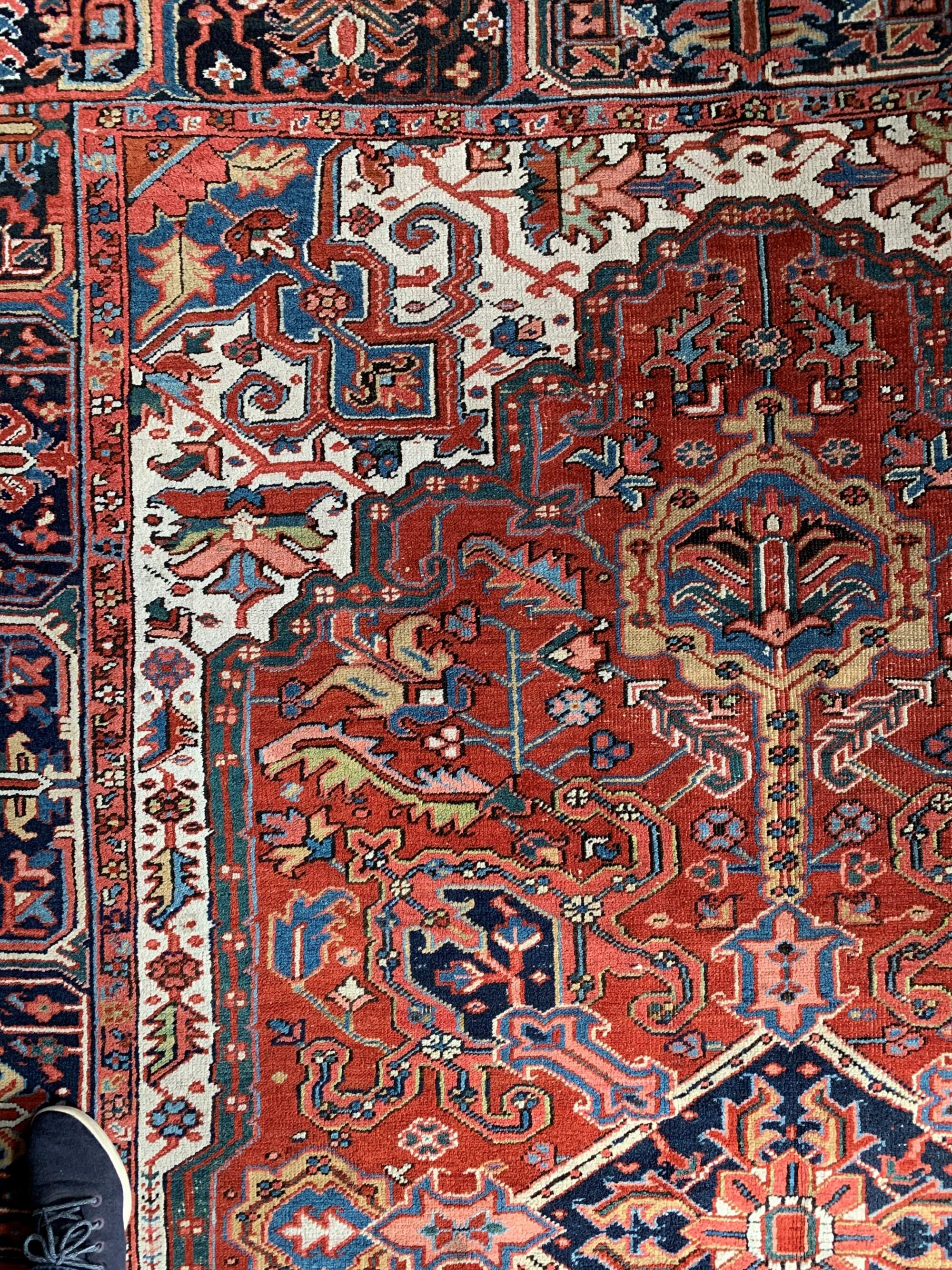 Antique Persian Heriz Rug 8