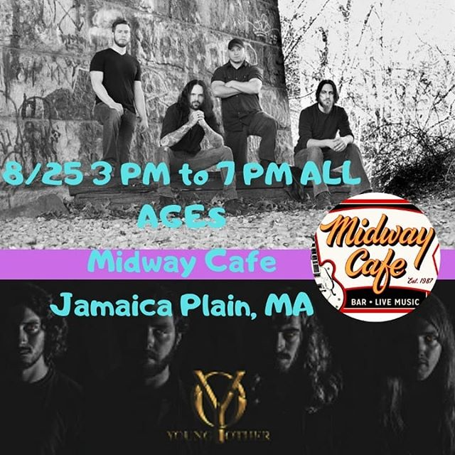 3 PM to 7 PM at @themidwaycafejp Come  rock out to four of the best hard rock bands. @exhalemusic and @young_other are two you don't want to miss! ALL AGES are welcome!  #allages #allagesshow #boston #today #sunday #rockband #rockmusic #liveshow #livemusic #jamaicaplain #massachusetts #goodmusic #guitar #guitarist