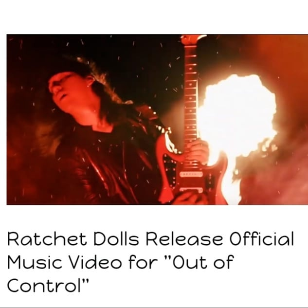 "Texas rockers @ratchetdollsofficial released the official music video for their latest single ""Out of Control."" Watch it at www.dontforgettorock.con  #texas #rockmusic #rockband #rocknroll #classicrock #newmusic #guitars #guitarist #saturday  @tagprteam"