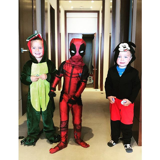 Yes, this is *still* going on over here. Costumes are their thing 🤩 at least the twins mix it up here and there - Jonathan is Mickey all the way. Every day 😆 #mythreeyoungest #identicaltwins #threeunderfive #boysboysboys #toddlerfashion