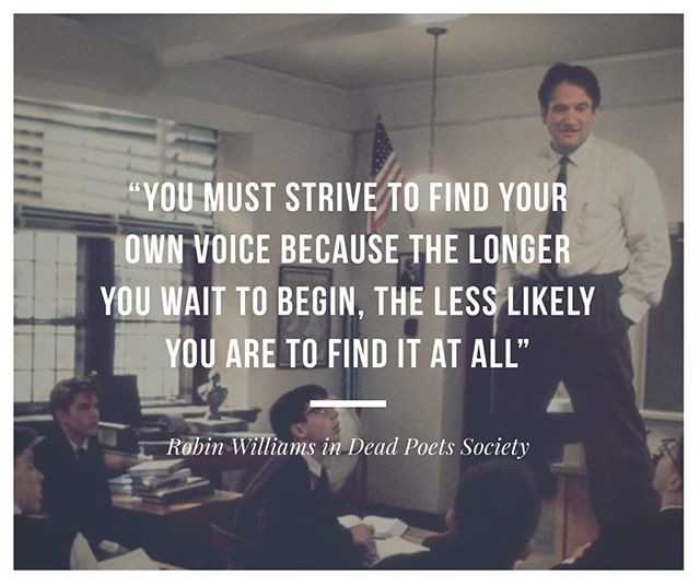 Some end of the week inspiration! What are you doing today in your search for your own voice?