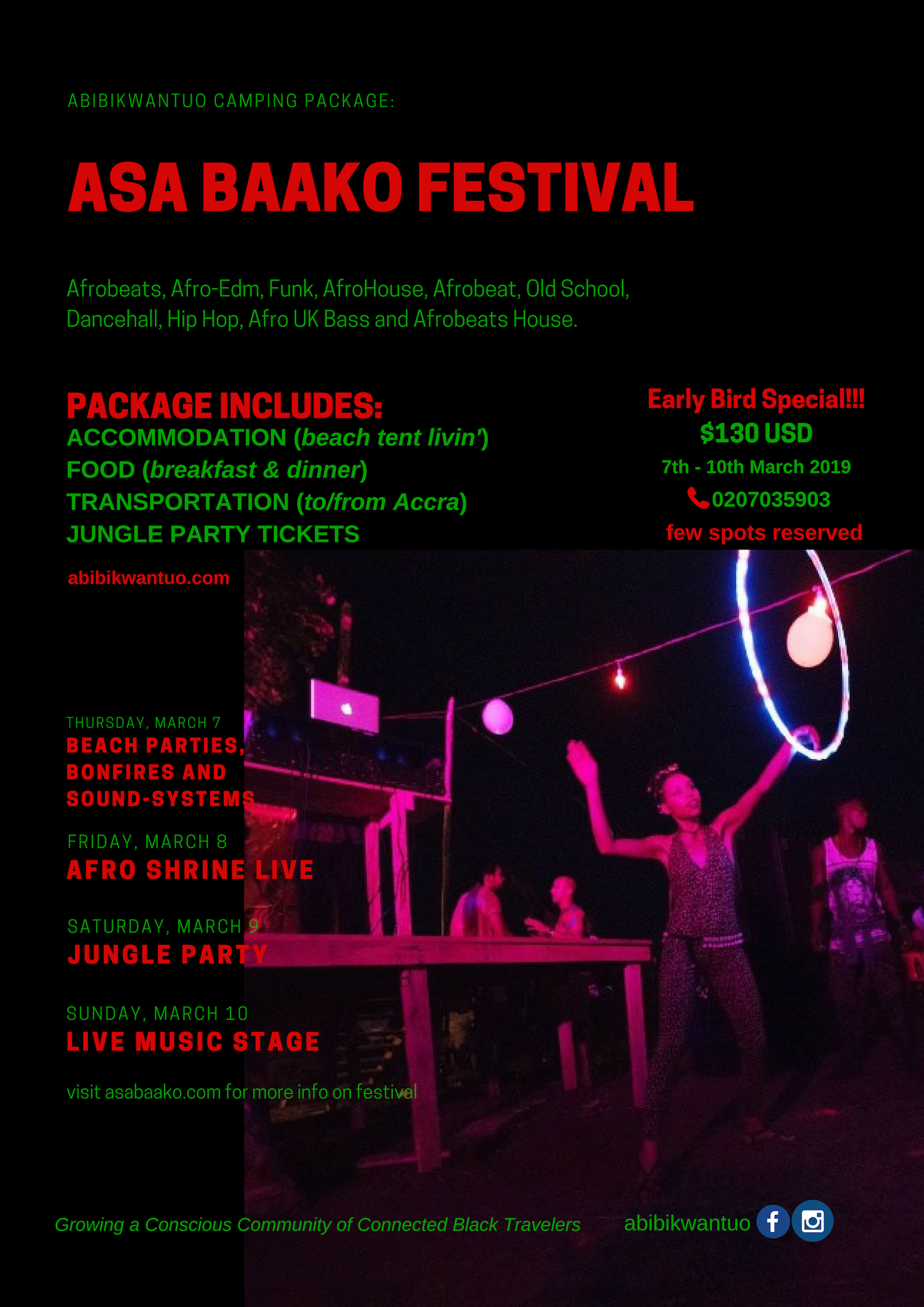 "Party with a Purpose - ""We've all been waiting for Asa Baako - a truly magical festival experience that has its own unique style rooted in Ghanaian culture, bringing everyone together into one dance!"