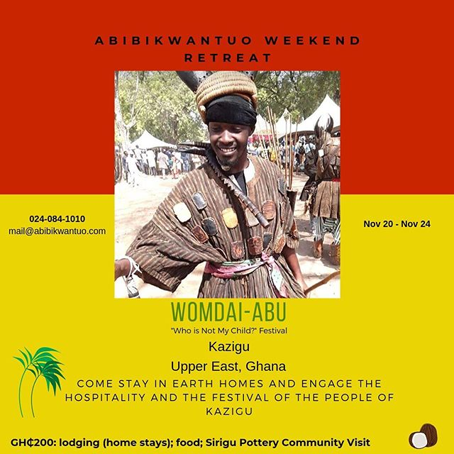 Few spots left for the Kazigu trip. Whatsapp/Call the number on the flyer or DM us to reserve your spot. Details on flyer! Abibikwantuo is a Black Travel Organisation based in Ghana which offers culturally immersive, fun, educational and financially accessible, group travels that leaves you (re)connected. Visit www.abibikwantuo.com for itineraries and program dates. Link in bio  #blackpacking #blacktravel #blackwomentraveltoo #blackpassportstamps #blackjourney #blackrevolution #travelafrica #travelghana #ghanalife #travelnoire #blackmentoo #blacktraveler #blacklivesmatter #growingupblack #blackfreedom #melanatedpassports #blackliberation #blackpackers #abibikwantuo #blackpride #blackunity #melanin #blackwanderlust #blackwanderer #blackpeopletraveltoo #blackandabroad #blackpeopletravel #yearofreturn2019 #blacktravelgram #yearofreturn