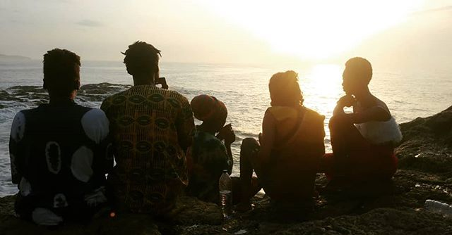 In Cape Coast, Ghana, be sure to stay at Ras Kobby's (@bamboovillage.gh) and bask in the glory of the rising sun.  #abibikwantuo #blackpacking
