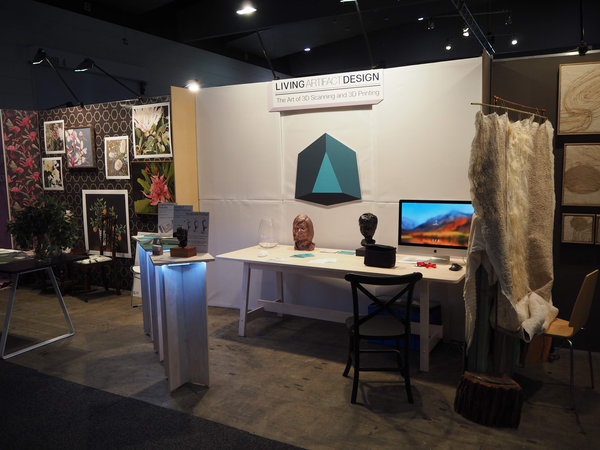 photograph of exhibition booth