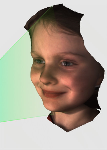 image of young girl illustrating 3D scanning capture process