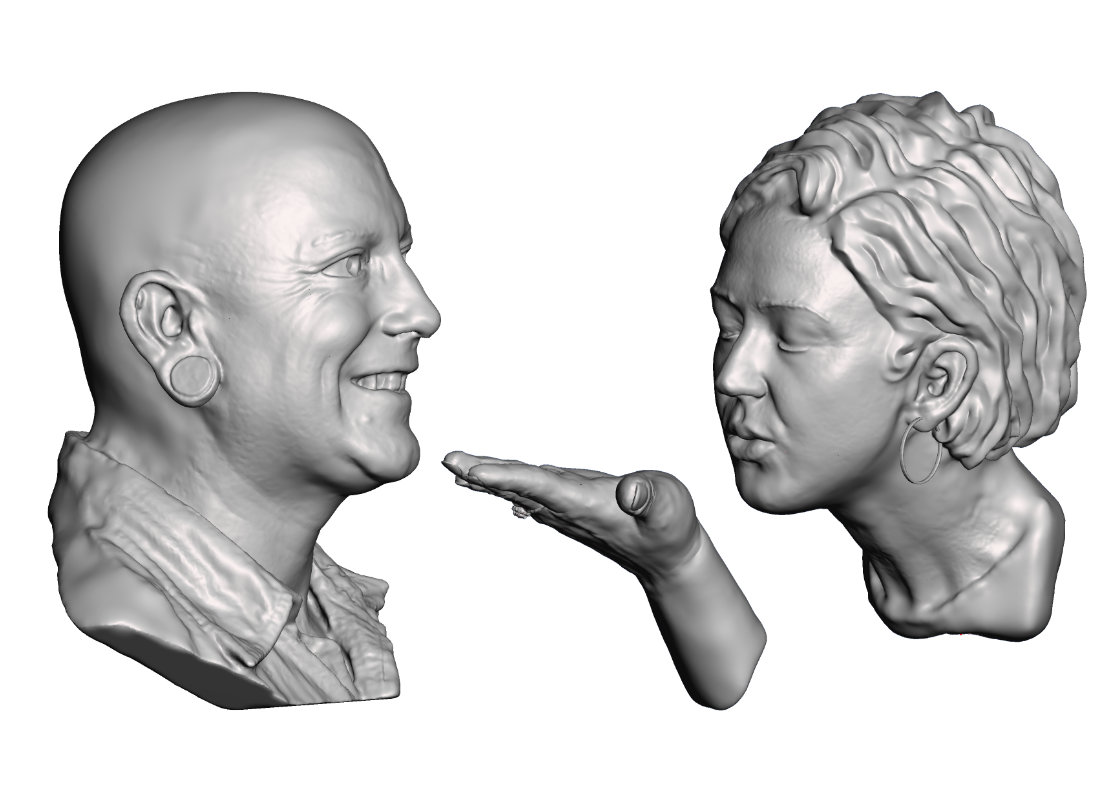 The Wedding - Two full head busts with the opportunity to personal for your personality and that very special occasion.