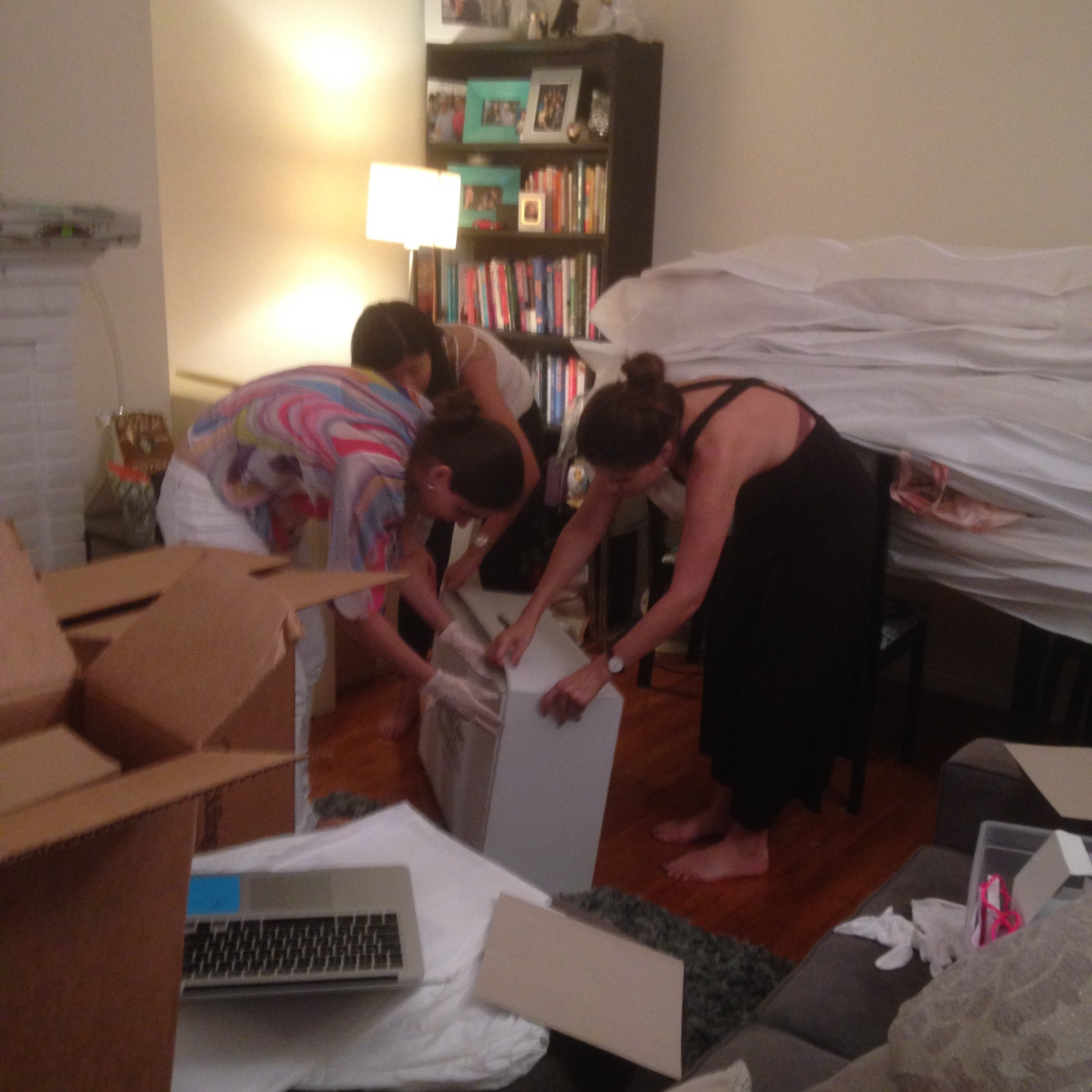 Our Story Bridal - Getting ready for pop up.JPG