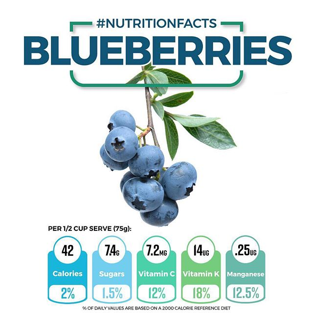 Blueberries are so rich in vitamins, minerals and antioxidants that they are hard to beat. Adding just half a cup to a smoothie or bowl of oats can make a huge difference and help you reach your recommended daily intake of vitamin C and K. • 🤔 What are your favourite berries?