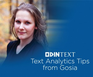 Text Analytics Tips with Gosi