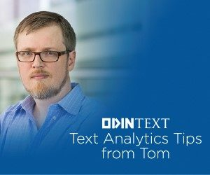 Text Analytics Tips