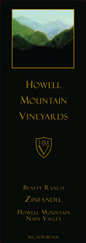 Howell Mountain Vineyards Beatty Ranch Zinfandel