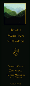 Howell Mountain Vineyards Primitivo Clone Zinfandel