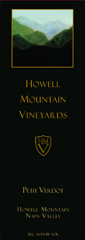 Howell Mountain Vineyards Petit Verdot