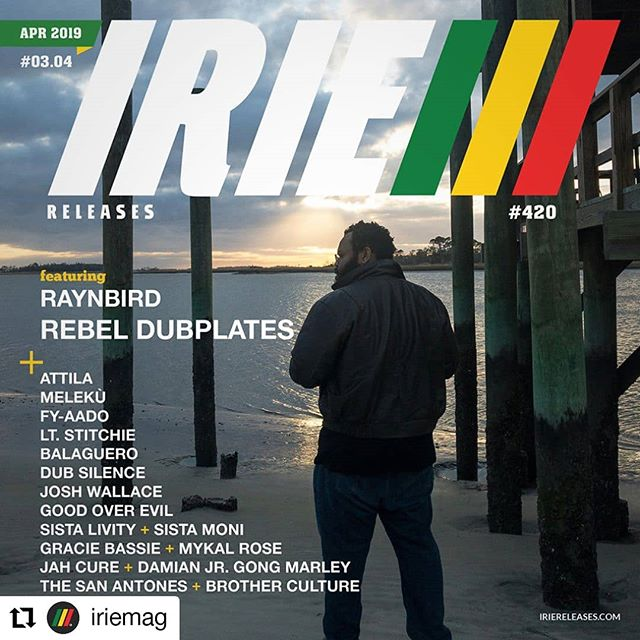 So happy!!! Thank you @iriemag For featuring me and @wanderingforchampagne for this amazing picture • • • • • • Yes I!@iriemag is kicking off the '420' celebration one week early with the release of our April '420' 2019 edition of IRIE™ Releases featuring Raynbird on the cover along with reggae artists Gracie Bassie feat. Mykal Rose, Jah Cure feat. Damian Jr. Gong Marley, Sista Livity & Sista Moni, Good Over Evil, Melekù, Josh Wallace, Attila, Balaguero, FY-Aado, Dub Silence, The San Antones feat. Brother Culture and Lt. Stitchie.  IRIE™ Magazine's April '420' 2019 issue drops on 4/20!  Meet @iriemag at @tribeca (April 24 — May 5)  Until then, give thanks for your continuous support of Reggae Music! Respect!  LISTEN ➤https://www.iriemag.com/irie-releases/  IRIE Playlist on SPOTIFY ➤https://spoti.fi/2VxQRAa  FOLLOW IRIE on Spotify - https://spoti.fi/2Eeu5Yb  SUBMISSIONS ➤https://www.iriemag.com/irie-releases/new-release-submissions/  #Irie#IrieReleases#Raynbird #RebelDubplates #Tribeca2019 #InnadeYard #TheSoulofJamaica #420  @iriemag| @raynbirdmusic |@graciebassiee|@mykalrose_original | @therealjahcure|@damianmarley|@sistalivity|@sistamoni|@goodoverevilprod|@melekuofficial|@joshvoilace|@attilamuzic|@balaguero_1| @fyaadomusic| @dubsilenceofficiel|@thesanantones|@lt._stitchie| @tribeca |@innadeyard | @iamzoolook