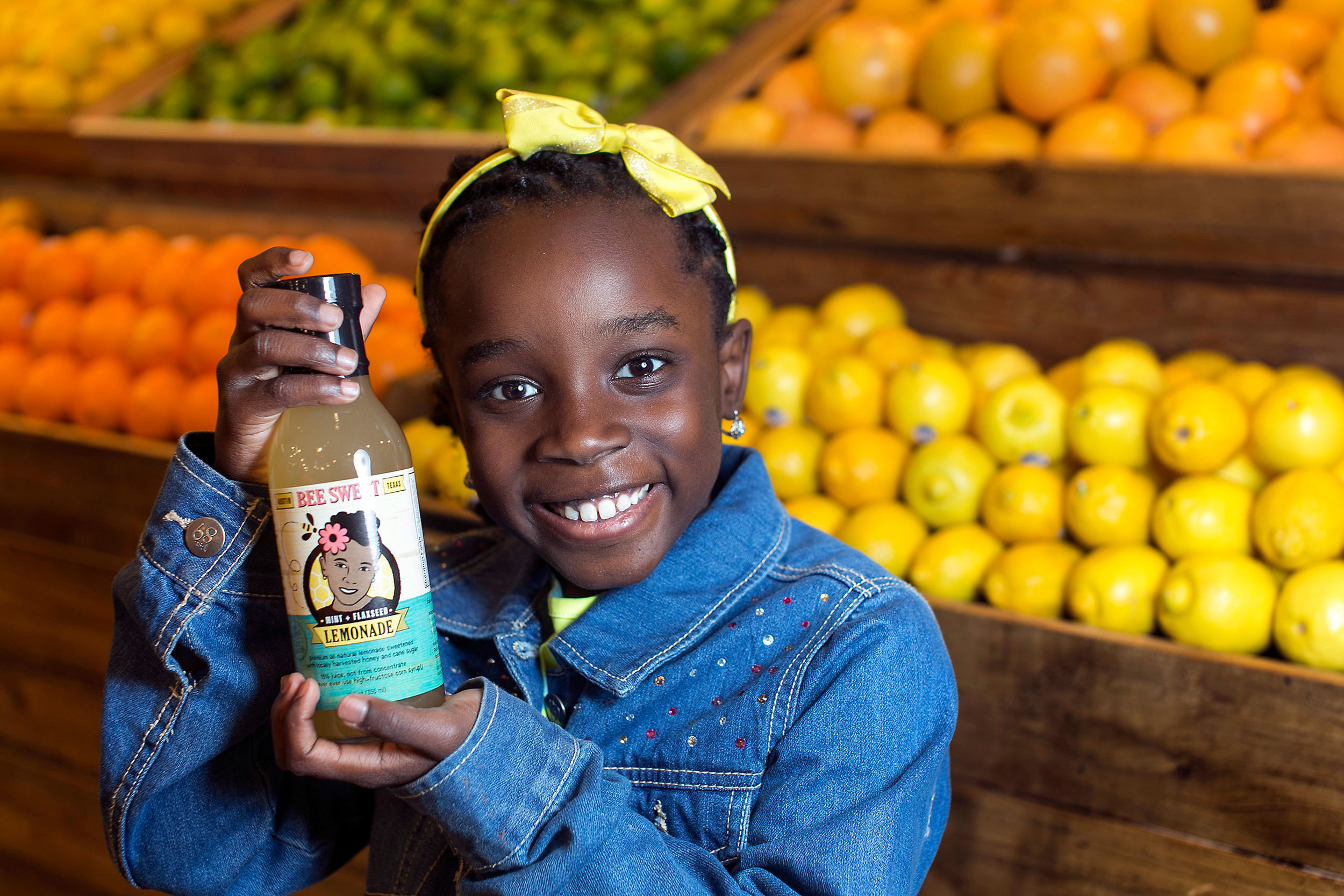 Mikaila Ulmer   is an Austin, Texas native, who was inspired by her great grandmother Helen's flaxseed lemonade to come up with her own lemonade. Ulmer created Me & the Bees Lemonade, which is a flaxseed and mint infused beverage that is sweetened with honey from local honeybees. Ulmer donates a percentage of her profits to organizations working with bees including her home state's beekepers association. In 2009, when Makaila first started, she sold her lemonade at a local pizzeria.  Currently, her product can be found in Whole Foods throughout the southeast region.