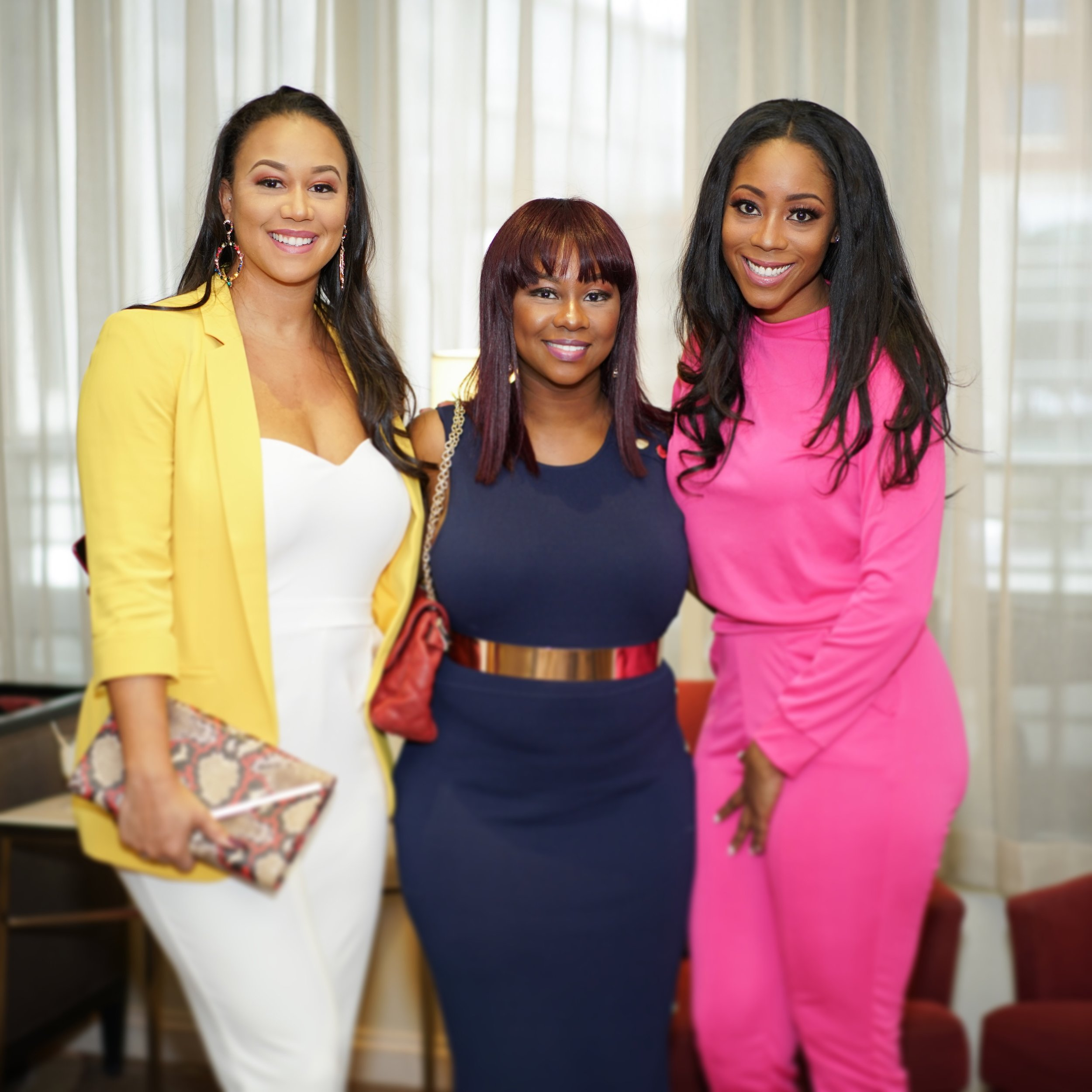 Business Mogul Launch event: Pictured (left to right) Spring 19 Cover Feature, Shonda Draughn, Dr. Sheria D. Rowe, K97.5 Personality, Autumn Joi