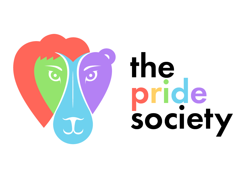 The Pride Society - Developed a logo and brand identity for the campus student organization following its recent name change.