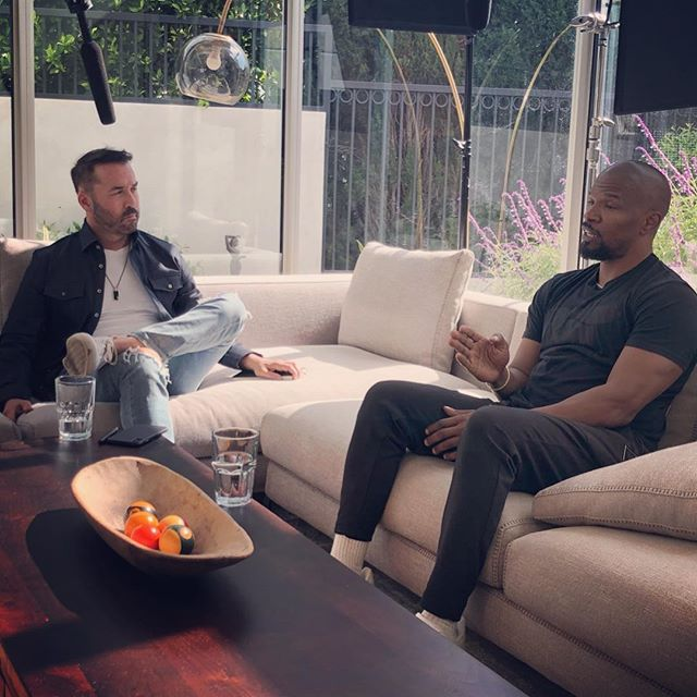 @iamjamiefoxx @jeremypiven absolutely killing it... had everyone laughing on set today #filming #comedy #sundayfunday