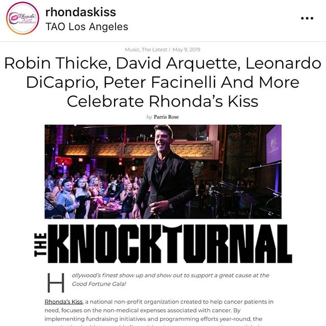 Congrats again to such an incredible organization devoting their efforts to helping people with cancer. Much love @rhondaskiss and the RK team @kyle_stefanski @jaimebyrneevents @pj_byrne @dannya27 @juliebarzman @mikehermosa @vipavan1 and everyone involved for the spectacular Good Fortune Gala last week. #rhondaskiss #cancer #charity #gala