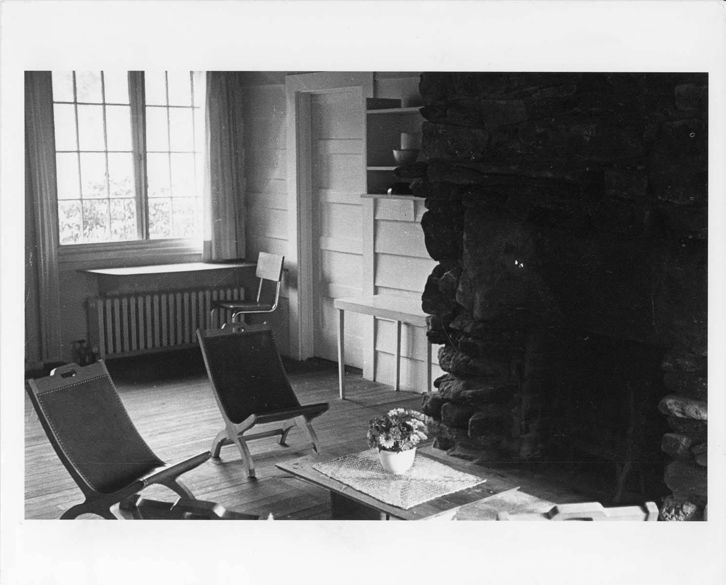 Josef and Anni Albers' living room at BMC. -