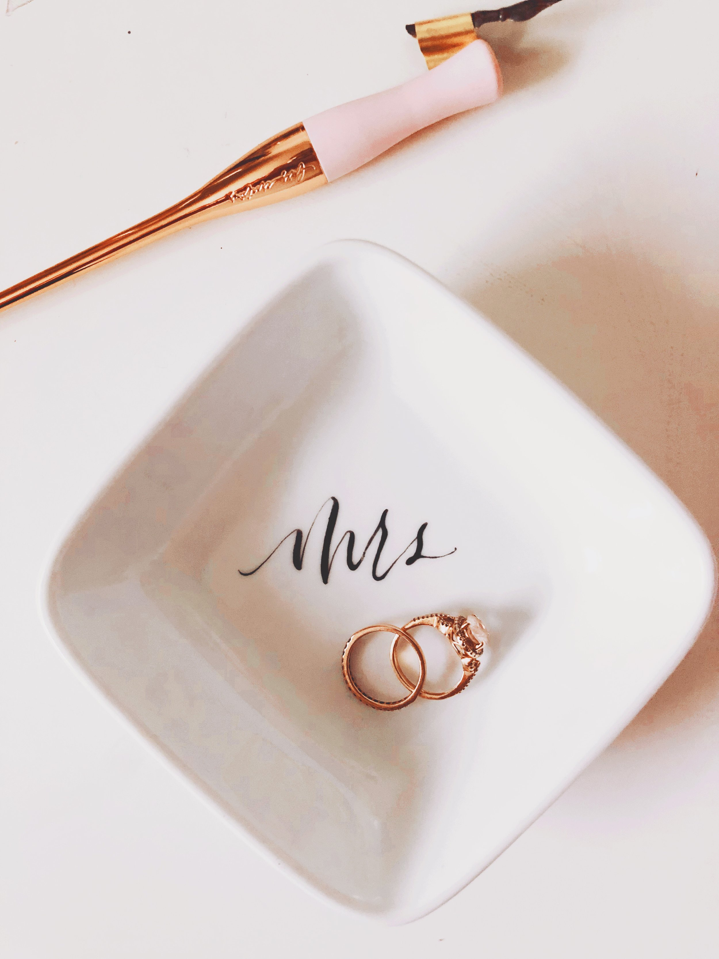 NEW ITEM - Hand lettered ring dish