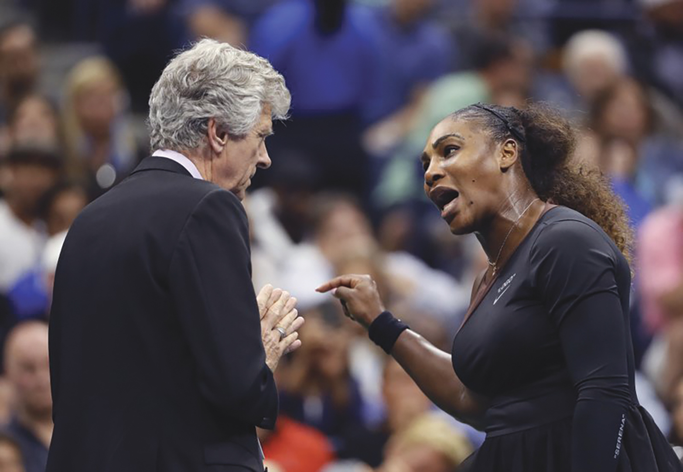 Serena Williams hugs Naomi Osaka, of Japan, after Osaka defeated Williams in the women's final of the U.S. Open tennis tournament, Saturday, Sept. 8, 2018, in New York. (AP Photo/Andres Kudacki)