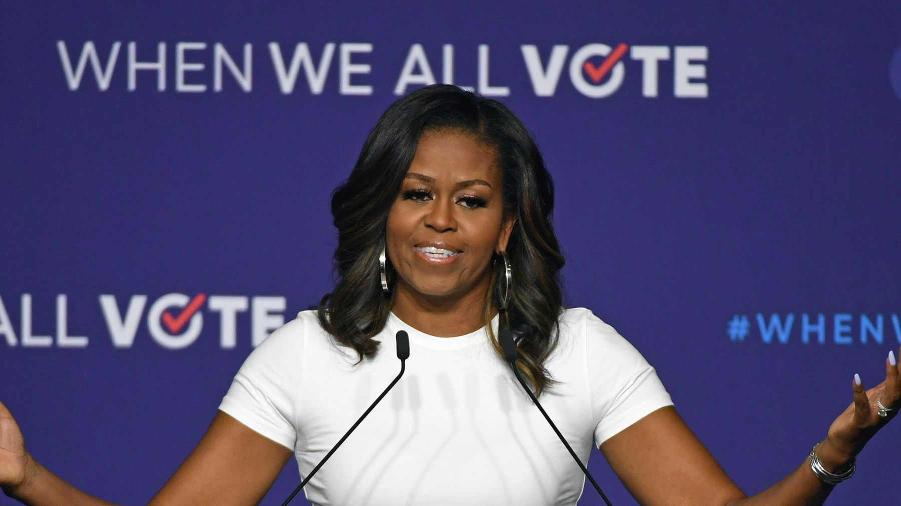 Michelle Obama, Tom Hanks, Janelle Monáe, Chris Paul, Lin-Manuel Miranda, Faith Hill, and Tim McGraw are calling on all of us to register and vote. Register to vote and volunteer at www.whenweallvote.org. (courtesy photo)