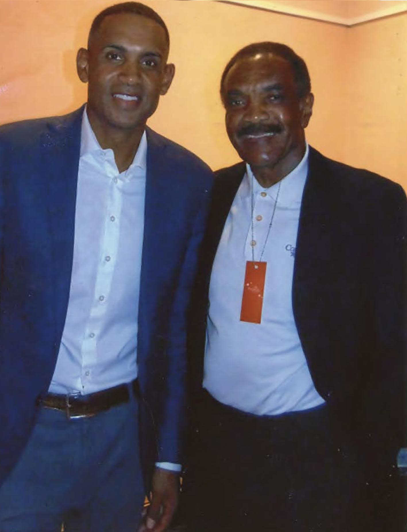 Hall of Fame Father/Son duo Calvin Hill (R) and Grant Hill (L). (Earl Health Photo)