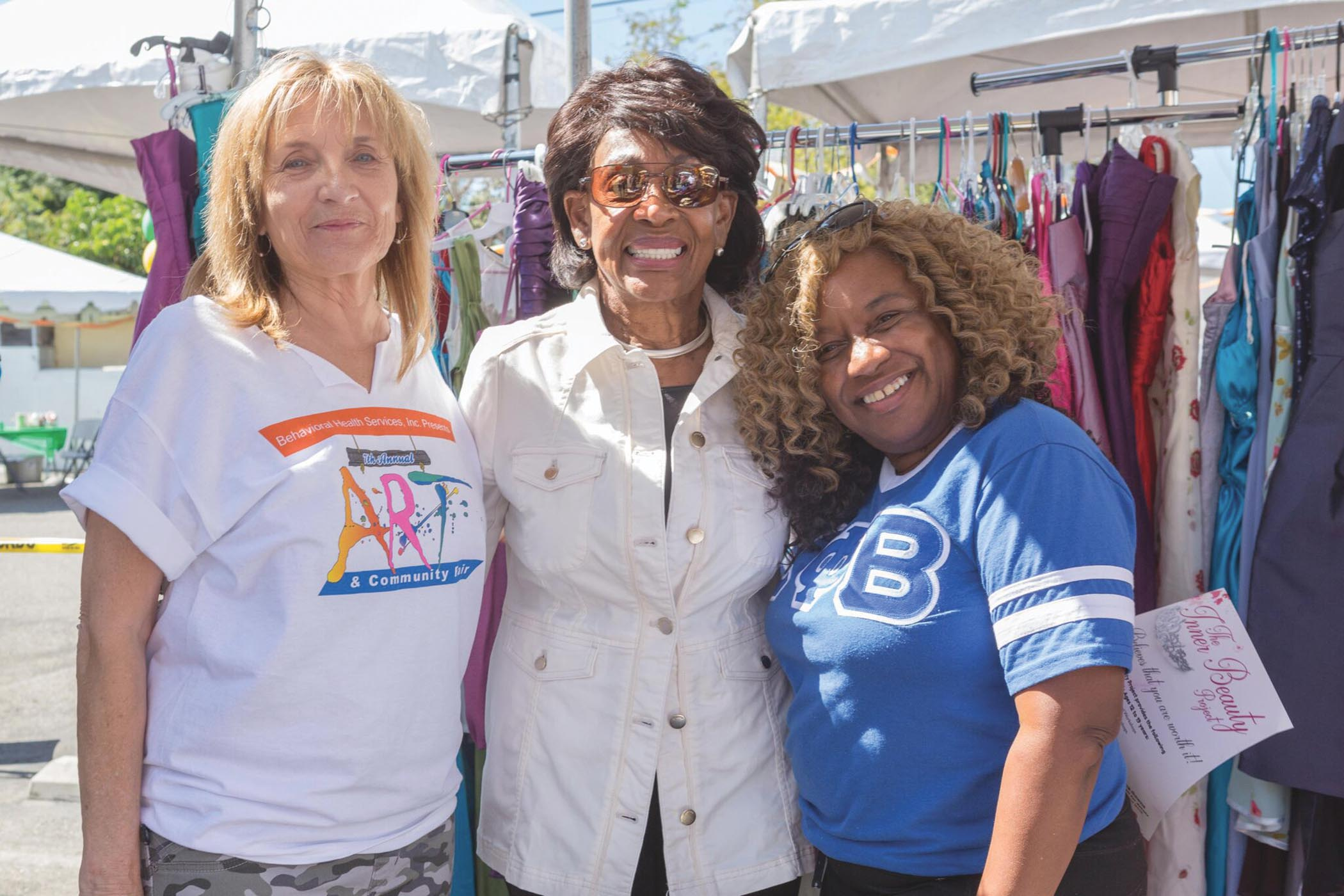 Congresswoman Maxine Waters and BHS Chief Executive Officer, Shirley Summers, at the 2018 Behavioral Health Services Community Fair on Saturday, September 29. (Photo courtesy of Behavioral Health Services)