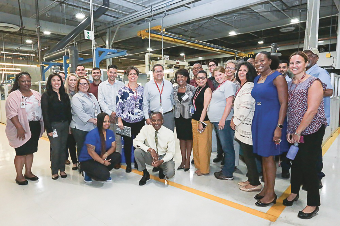 Congresswoman Waters meets with staff at the Moog Aircraft Group's Military Aircraft Customer Support Center in Torrance, CA. (Photo courtesy of Moog Aircraft Group)