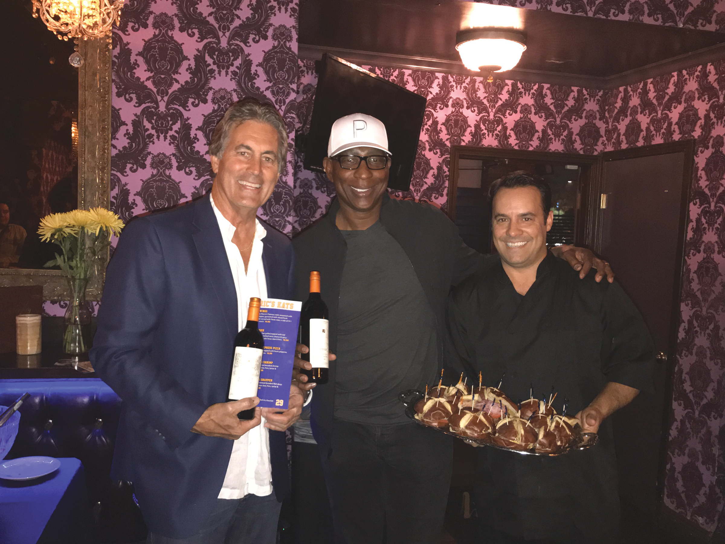 Vince Farragamo, Eric Dickerson and Alex Manos introduce 29 about at Rocco's Tavern in Studio City on Monday Oct. 22 (Cover photo)