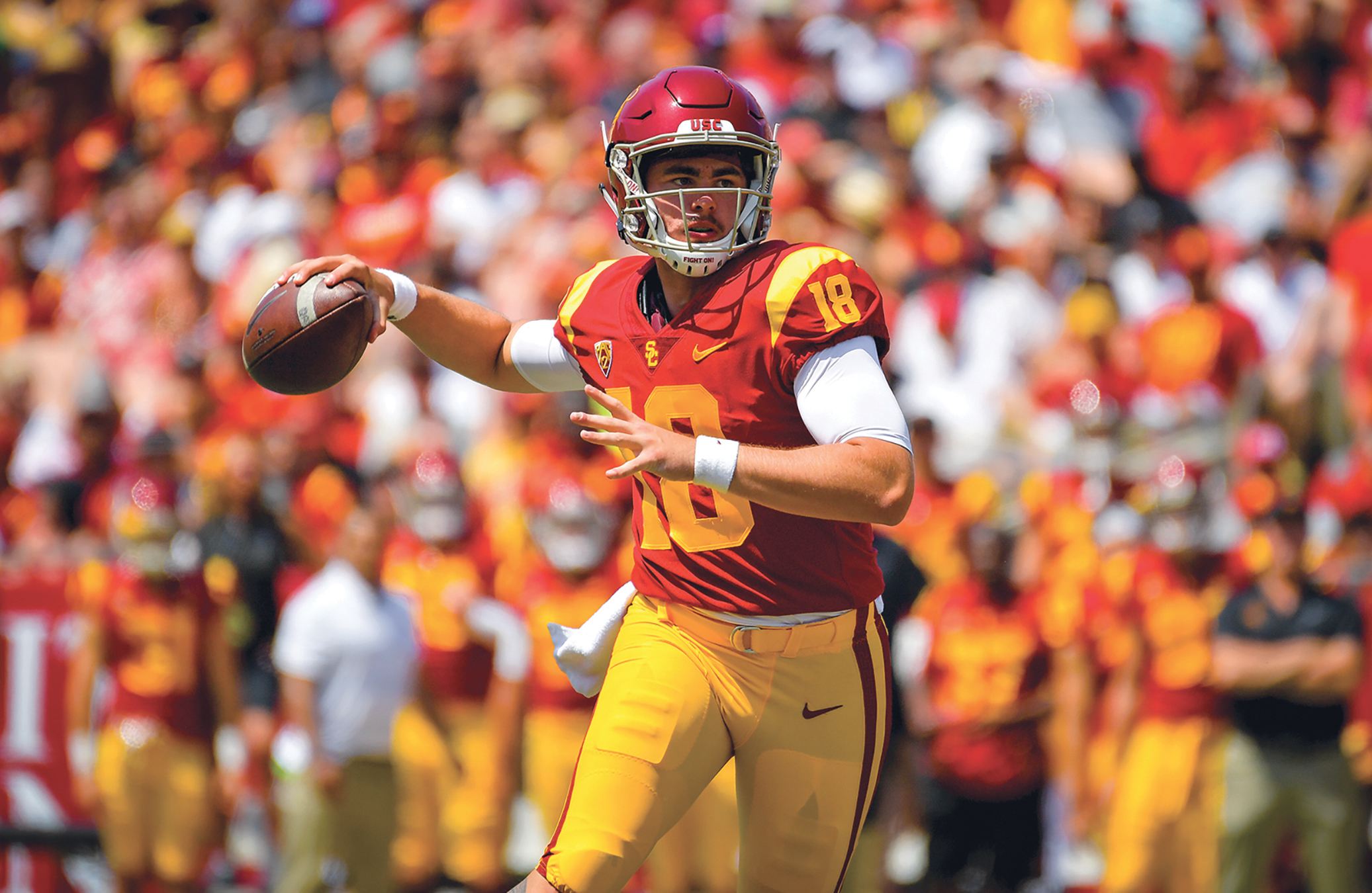 JT Daniels completed 21 of 43 passes for 180 yards in a loss to Cal (courtesy photo)