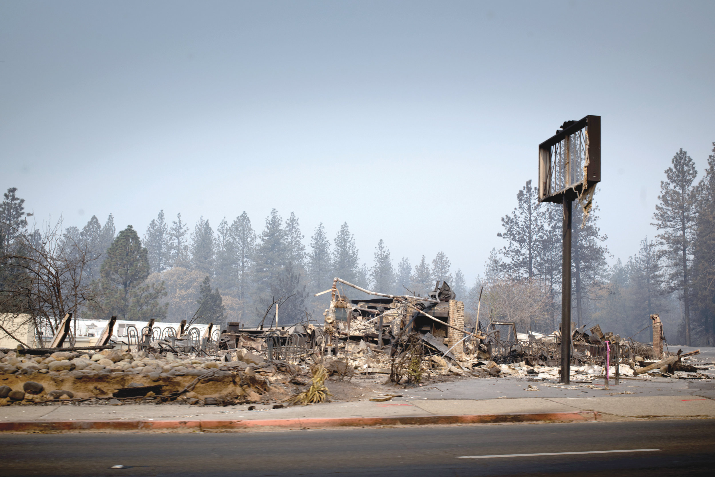 The town of Paradise, California has literally been burned to the ground. This is a photo of a former restaurant, The Italian Garden. (OBSERVER photo by Robert Maryland)