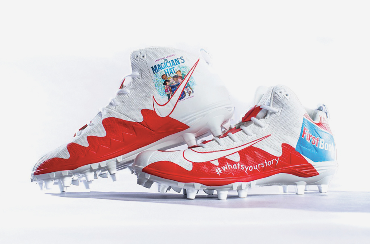 Todd Gurley chose to represent First Book (Literacy) with his cleats. (Rams wire courtesy photo)